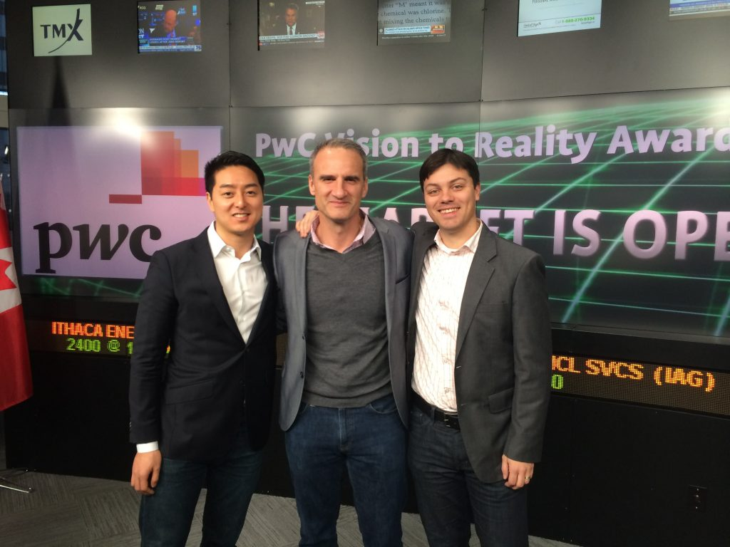 PwC Vision to Reality Award finalists opening the Toronto Stock Market