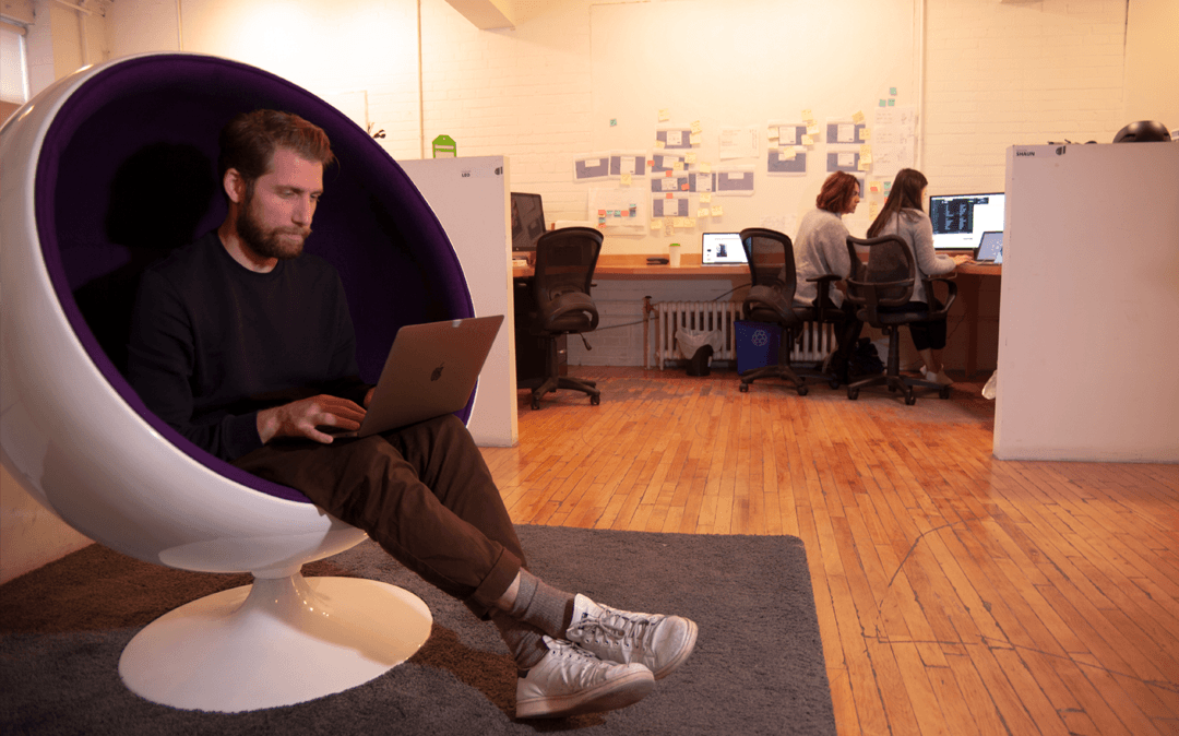 Quiet-work-time-in-an-egg-chair