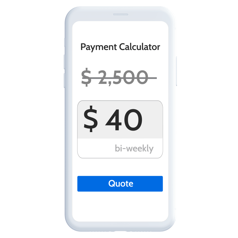 Retail payment calculator still