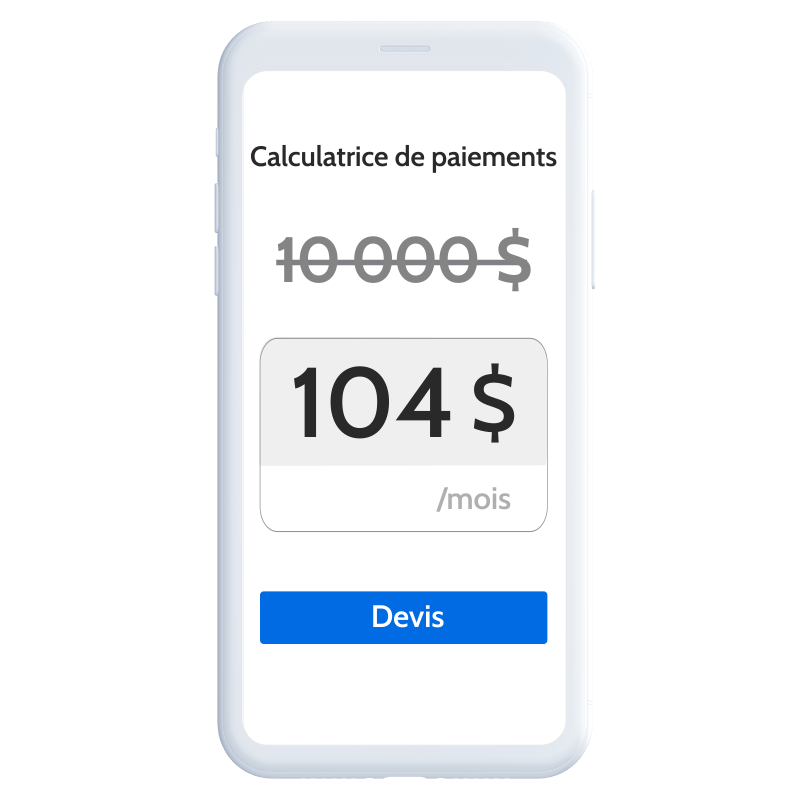 Home Improvement Phone Calulator French