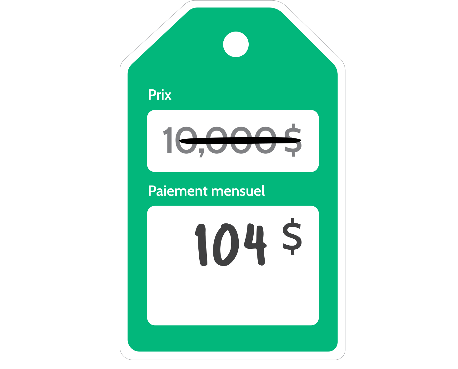 Home Improvement Price tag animation French