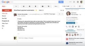 Sales Navigator Gmail Plugin Screenshot