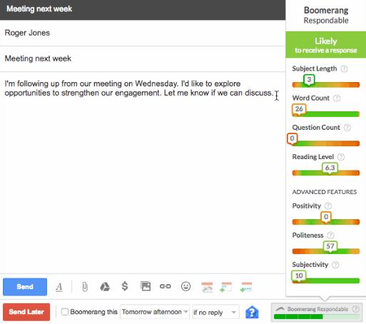 Boomerang Gmail Plugin Screenshot