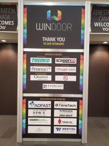 WinDoor Sponsorship Sign