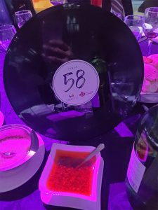 Record disc with the table number