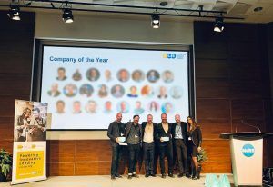 Financeit accepting Company of the Year in Lending award